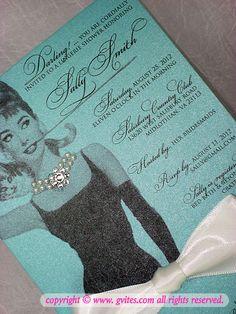 Breakfast at Tiffany's Bridal Shower Invitation  Since i'm the only one @Ashley Koch follows....HINT HINT HINT HINT