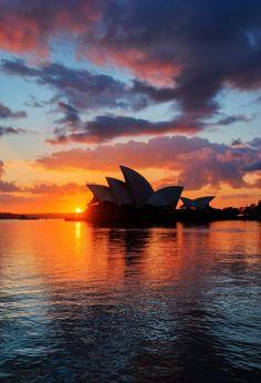 Sydney Opera House at Sunset by Trey Ratcliff | 16-Day Australia And New Zealand Odyssey | #Sydney, #Australia #Travel #Cruises