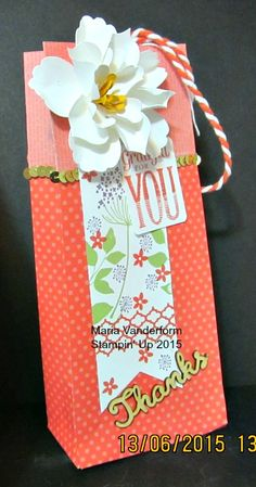 Crafty Maria's Stamping World: Large Gift Bag Using Gift Bag Punch Board