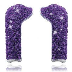 Pair of DEOS Amethyst Swarovski elements earphone covers. DEOS Earphone covers fit DEOS in-ear headphones with microphone. Comes with DEOS earphones. Made with genuine Swarovski Elements. - DEOS