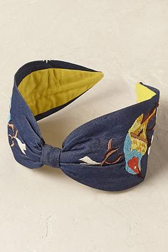 Anthropologie EU Goldfinch Denim Headband