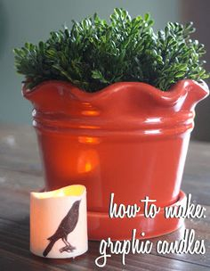 The Graphics Fairy - DIY: How to make: graphic candle   Photo by Gina Luker