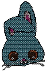 Bunny face Plastic Canvas Pattern Available on my website  http://www.thumbalinascorner.com