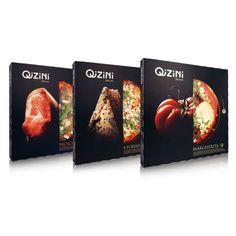 O design das embalagens de pizza Qizini