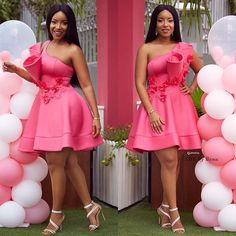 Joselyn Dumas Gives Us Chic and Classy Wedding Guest Styles - Wedding Digest Naija African Bridesmaid Dresses, African Lace Dresses, African Dresses For Women, African Fashion Dresses, African Attire, Types Of Dresses, Short Dresses, Dinner Gowns, Most Beautiful Dresses