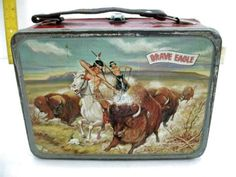 Vintage Brave Eagle lunch box!