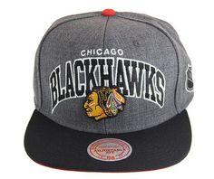 4e8c73fda3b Chicago Blackhawks Grey Black NHL Snapback