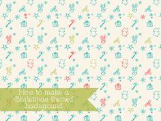 How to create Christmas themed digital papers - Elan Blog Studio
