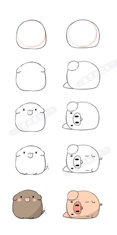 Xu (xu) Dog Hai (hai) from pig …. Ju @ matrix grown man Xu (xu) Dog Hai (hai) from pig …. Cute Cartoon Drawings, Cute Easy Drawings, Kawaii Drawings, Doodle Drawings, Doodle Art, Cute Cartoon Animals, Anime Animals, Cartoon Styles, Easy Animal Drawings