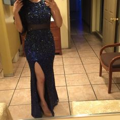 Blue dress Beautiful blue dress , prom dress gathering dress, sequin material Primavera couture Dresses Prom