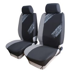 AutoCare 4PCS/ 9PCS Universal Fit Grey Black Color Car Seat Cover Tire Print Style Car Seat Protector Car Interior Decoration