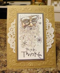 Turn On the Twinkle by - Cards and Paper Crafts at Splitcoaststampers Homemade Christmas Cards, Homemade Cards, Handmade Christmas, Christmas Crafts, Father Christmas, Christmas 2019, Chrismas Cards, Xmas Cards, Holiday Cards