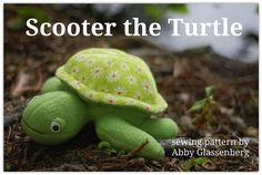 Scooter the Turtle   PDF Sewing Pattern Easy to by whileshenaps