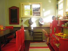 playhouse interiors - chalk board & hooks