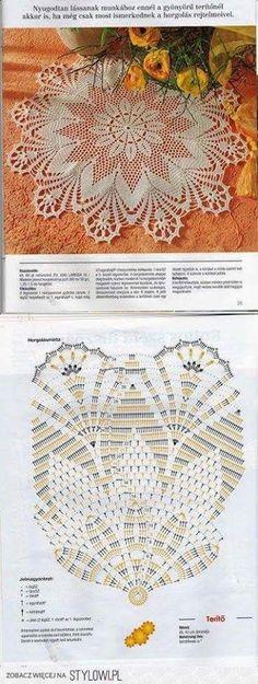New Crochet Lace Doily Pattern Charts Ideas Crochet Doily Diagram, Crochet Doily Patterns, Crochet Mandala, Crochet Chart, Thread Crochet, Filet Crochet, Crochet Motif, Crochet Designs, Crochet Flowers