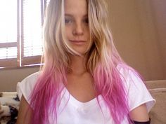 pink hair tips - Google Search