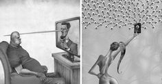 What's Wrong With Today's Society Captured In 10+ Though-Provoking Illustrations By Al Margen | Bored Panda