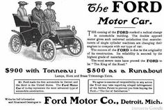 July 15, 1903, the recently formed Ford Motor Company takes its first order from Chicago dentist Ernst Pfenning: an 850 dollar two-cylinder Model A automobile with a tonneau (or backseat). The car, produced at Ford's plant on Mack Street (now Mack Avenue) in Detroit, was delivered to Dr. Pfenning just over a week later.