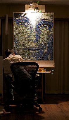The Astounding Pushpin Portraits Of Artist Eric Daigh (PHOTOS)