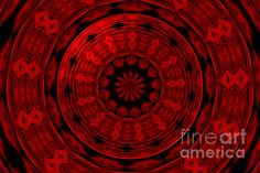 """Roses Kaleidoscope Under Glass 22:  This beautiful kaleidoscope was digitally created from a photograph I took of a lovely bouquet of roses. I also added an """"under glass"""" special effect digitally to the center of the picture. The """"Fine Art America"""" watermark (in the lower right corner) will NOT be on your purchased product.  Prices start at $4.30"""
