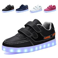 EQUICK Light Up Shoes Kids USB Charging Flashing LED Sneakers 11 Colors Modes Boys GirlsCLD020133 >>> You can get more details by clicking on the image.