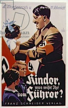 "Der Führer ,Adolf Hitler was depicted as a lover of children and Animals yet ,as far as we know ,he had no children and ,in the end ,tested his Cyonide capsule on ""Blondie"" ,his Alsation however He was upset when his first dog""Foxel"" was stolen during  his days as a soldier in The "" Great War"" W.W.-I !"