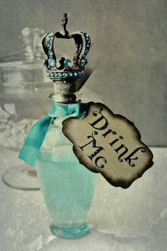 Why not throw Alice in wonderland stuff to keep the movie theme.?? Might label the drinks like this :o