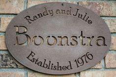 Custom Steel Family Name Sign by FultonMetalWorks on Etsy, $29.95
