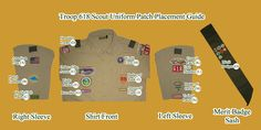 boy scout patch placement diagram | Patch Placement | Nas... )