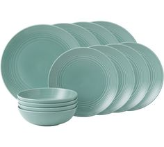 Buy Royal Doulton Gordon Ramsay Maze 12 Piece Dinner Set - Teal at Argos.co.uk - Your Online Shop for Crockery, Tableware, Cooking, dining and kitchen equipment, Home and garden.