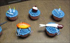 Fishing tackle cupcakes
