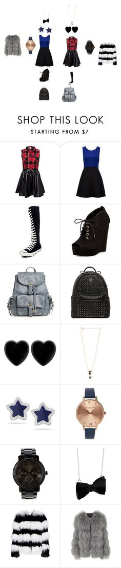 """back to school"" by reiano268 on Polyvore featuring Forever New, Converse, Diane Von Furstenberg, MCM, Dollydagger, Dana Rebecca Designs, Olivia Burton, Alice + Olivia, Chloé and BackToSchool"