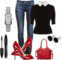 """Office outfit on a Friday"" by roxyd on Polyvore"