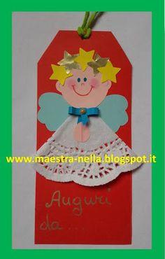 maestra Nella: biglietti e chiudipacco Christmas Crafts For Kids To Make, Christmas Projects, Holiday Crafts, Christmas Tag, Christmas Themes, Baby Crafts, Kids Crafts, Bible Study Crafts, Preschool Projects