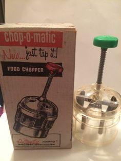 Original Popeil Chop O Matic 30 Food Chopper Circa 1956 | eBay