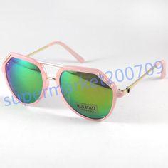 414ac7b7db0 Women Sunglasses Eyewear Mirror Color Lenses Pink Frame Sun Glasses UV Out  Sport…