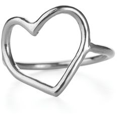 Chupi - My Heart Is Open Ring in Silver ($105) ❤ liked on Polyvore featuring jewelry, rings, silver heart ring, heart shaped rings, egyptian jewelry, handcrafted silver jewelry and polish jewelry