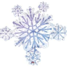 1 X Christmas Sparkly Snowflake Cluster 32 Mylar Balloon ** Want additional info? Click on the image.