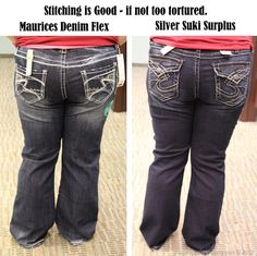 Jeans for Most of America: A detailed guide on buying great, flattering jeans for the plus-sized woman. If you're in the area she can give you a jeans fitting!