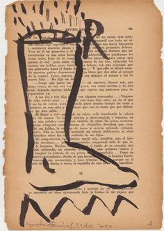 """""""cuaderno de fin de año""""/tinta china sobre hoja antigüa de libro. 01-01-2011"""
