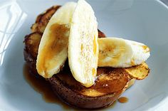 Banana & Cinnamon French Toast -What we made for breakfast this morning. We subsituted the milk, cream, and butter for lactose free cream & milk, and used soy butter for frying. We also subsituted the brioche for gluten free bread - great recipe for those intolerent to gluten and lactose!