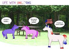Red White & Blue-nicorn #4thofjuly