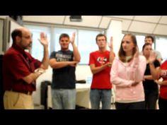 Music education majors having their first look at exploring rhythm using names…