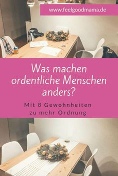 Mit 8 einfachen Gewohnheiten zu mehr Ordnung Habits are the key to staying neat. My 8 ultimate tips that will help you to have a decent apartment permanently. House Cleaning Tips, Deep Cleaning, Spring Cleaning, Cleaning Hacks, Diy Hacks, Home Organisation, Household Organization, Tablet Recipe, Household Expenses