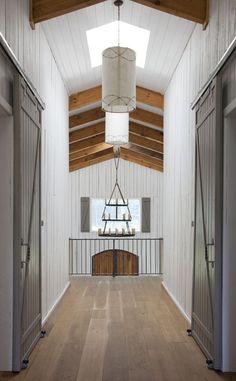 Wooden hallway Sliding doors