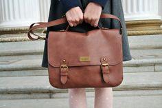 brown leather bag vintage style