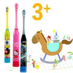 SıCAK! Çocuklar Elektrikli Masaj Ultrasonik Diş Fırçası Diş Bakımı Ağız Hijyeni Karikatür Diş Fırçası Elektrikli Diş Fırçası Çocuklar Için