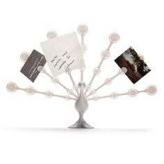 Freddy Feathers - Memo Note Holder for Desktop Notes White Peacock (Office Product)  http://www.99homedecors.com/  B004S3MAG2