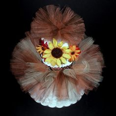 Diaper Cake Baby Shower Centerpiece Autumn Thanksgiving Little Pumpkin Fall Decorating Ideas Wreath Lil' Baby's First Brown Orange Yellow Sunflower Tutu Outfit Costume Headband