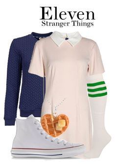 Stranger Things by sparkle1277 on Polyvore featuring polyvore, fashion, style, Barbour, Converse and clothing